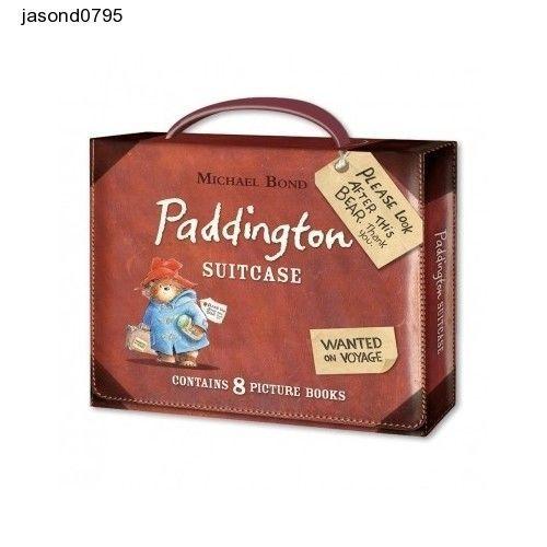 Paddington Bear Suitcase Book Set Eight Briefcase Fun Reading Bedtime Stories