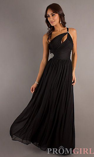 Long One Shoulder Prom Dress at PromGirl.com