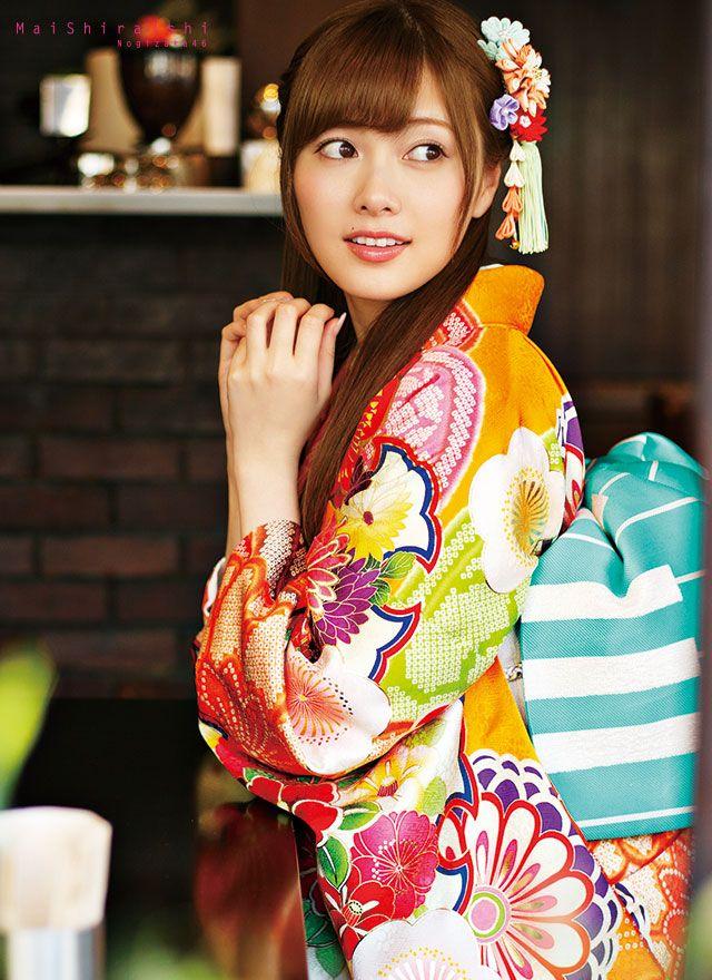 asheron02: Shiraishi Mai   Nogizaka46 Shiraishi Mai Kimono   Kyoto Sweet Collection   Part 2