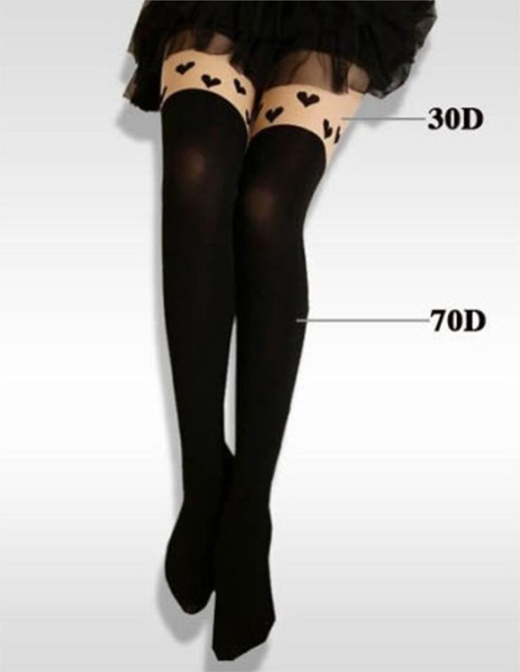 Harajuku Tights Japanese Stitching False Thigh Peach Heart Stockings False High Tube Female Long Pantyhose Women Tights