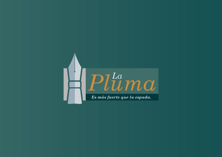 Logo La Pluma es más fuerte que la espada.