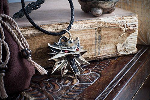 $$> Handmade full-size wolf The witcher medallion with signs Geralts cosplay