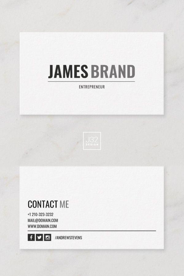 Bold Name Modern Minimalist Business Card Zazzle Com With