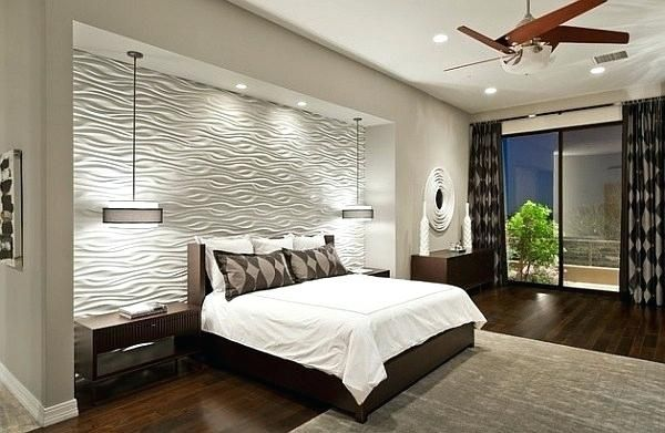 Bedroom Wall Tile Ideas View In Gallery Textured Wall Tiles Draw Your Attention Instantly Bedroom Interior Contemporary Bedroom Design Master Bedroom Remodel