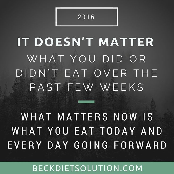 "If you think, ""I'm discouraged by the weight I gained this holiday season,"" remind yourself right now is the perfect time to get back on track and recommit yourself to healthy eating. It doesn't matter what you did or didn't eat over the past few weeks. What matters now is what you eat today and every day going forward."