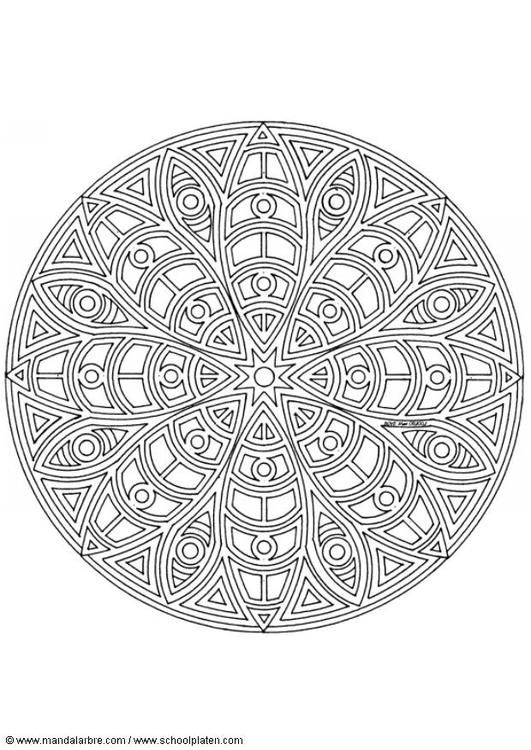 coloring page mandala 1402c img 4454 mandalas. Black Bedroom Furniture Sets. Home Design Ideas