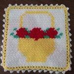 Tığ İşi Sepet Örneği Lif Modeli #crochet  #örgü #lif #lifmodelleri #liförnekleri #washcloth #knit #knitting