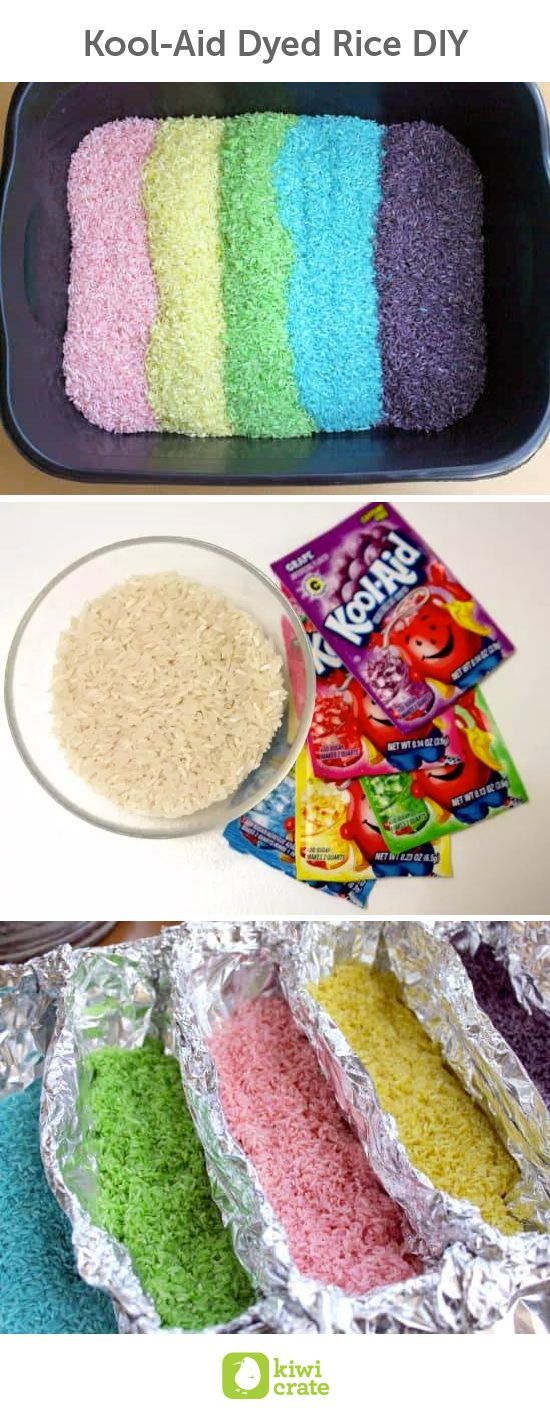Kool-Aid Dyed Rice DIY. Kool-Aid dyed rice makes an awesome addition to sensory bins. Here's how you can dye dried rice in a rainbow of colors.