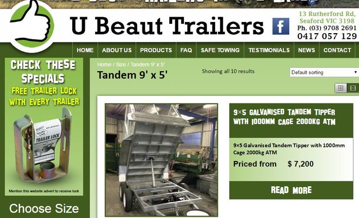 Tandem 9 x 5 ubeauttrailers is a family-owned company providing galvanised trailers that are built to last. We only use 100% new parts (no reconditioned tyres or wheels). We pride ourselves on our customer service, flexibility and great value trailers and parts. Our trailers come with a 1 year structural warranty on suspension and trailer frame. For more information visit at http://ubeauttrailers.com.au/product-category/size/tandem-9-x-5 and contact us 03-9708 2691, Mobile: 0417 057 129 U…