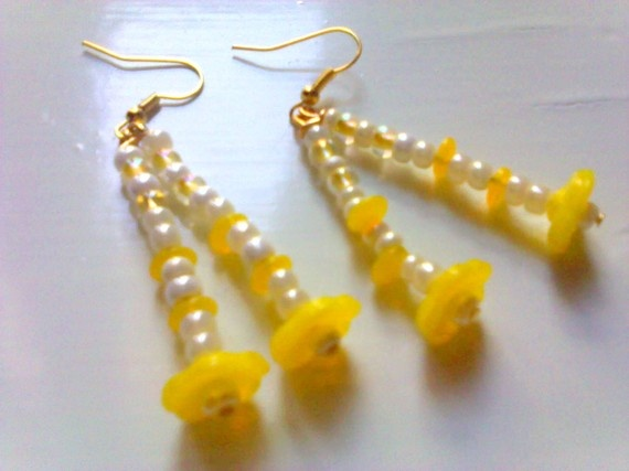 drop spring earrings by katerinaki106 on Etsy, $7.00