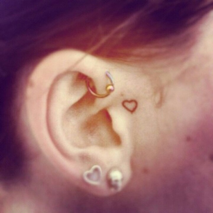 Tiny Tattoos Behind Ear: Small Tattoo. Maybe Behind The Ear And Not In Front