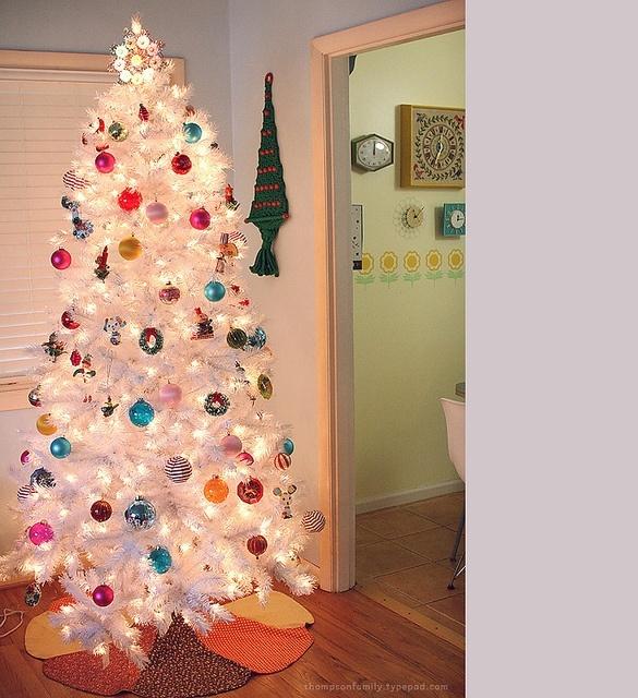 White Christmas Tree #santa