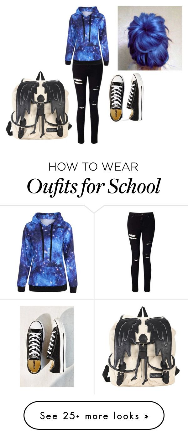 """""""Rushing to School"""" by moriartyandsherlock on Polyvore featuring Miss Selfridge and Converse"""
