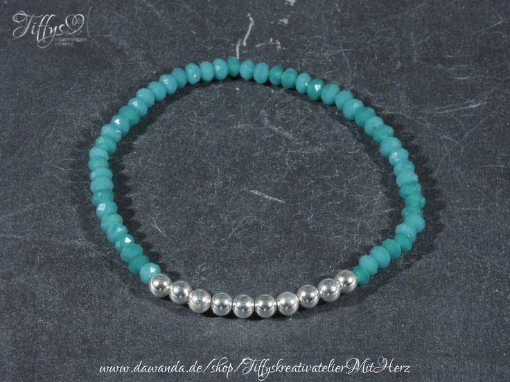 Armbänder - Armband * Perlen 925 Sterling Silber * petrol - ein Designerstück von TiffysKreativatelier bei DaWanda