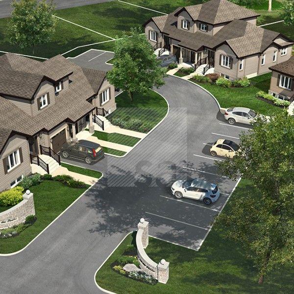 Étude de faisabilité d'un développement immobilier en projet intégré de type condominium en bloc de deux et trois unités. http://www.s-a2.com/projet/sa2_11-099/