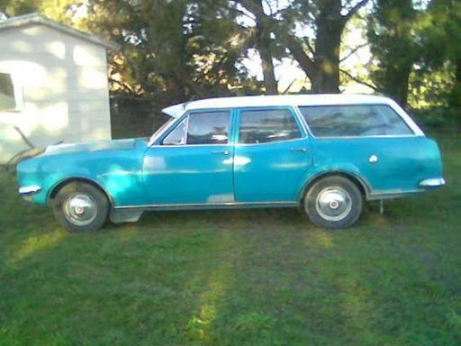 Like this one...only green. 1968 6cyl 186cid HK Holden Station wagon