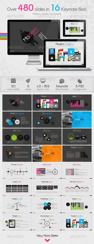 Modern World Presentation Template for Keynote - Business Keynote Templates