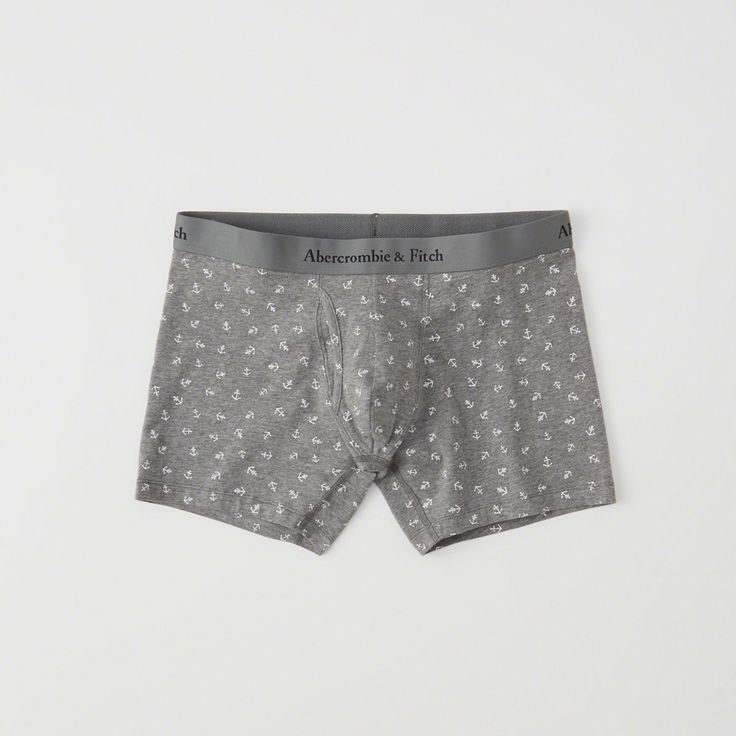 A&F Men's Boxer Brief in Grey/Blue - Size XXL
