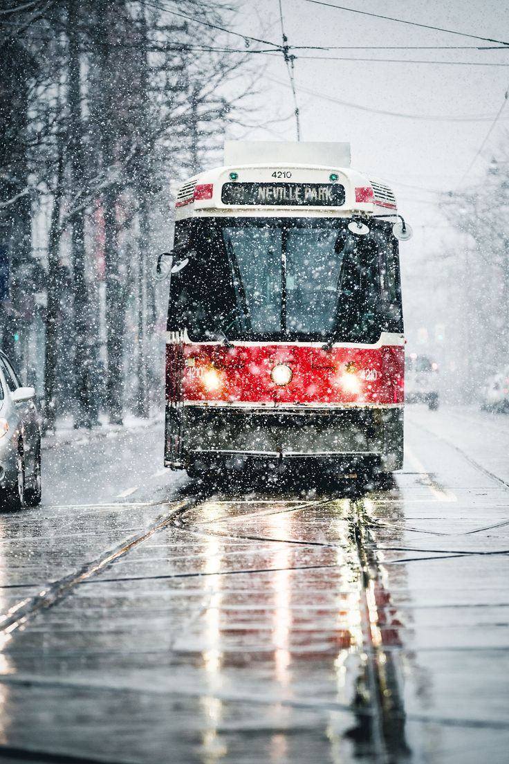 Snow day in Toronto, Canada