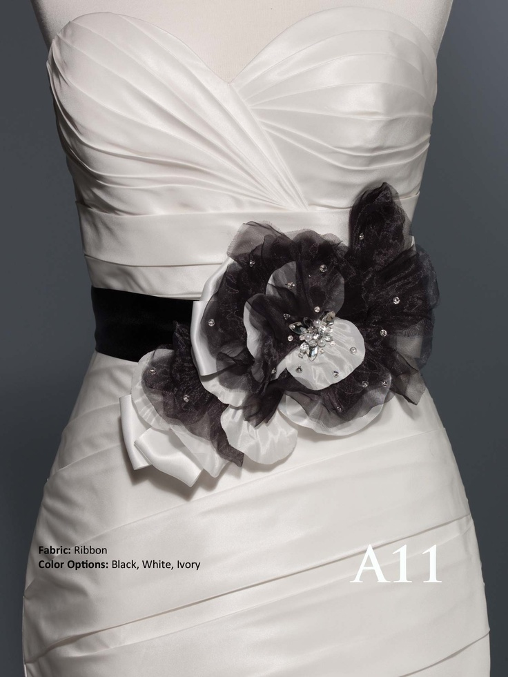 Pretty tulle and taffeta with beading embellishment hand made flower belt style 0a00068 $78.00