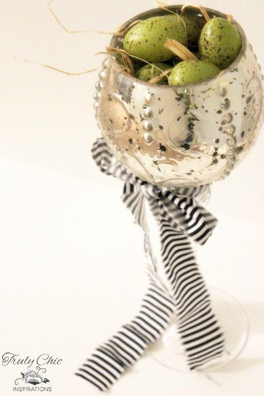 DIY Easter Mercury Glass Decor