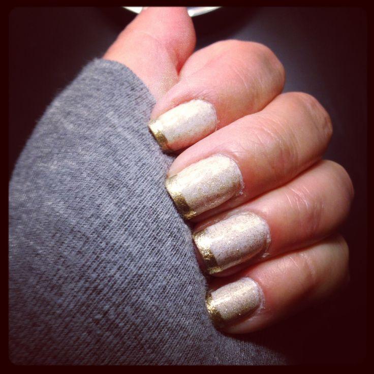 Gold Gel Nail Polish: White Gel Polish, Gold Glitter Gel Polish, Metallic Gold