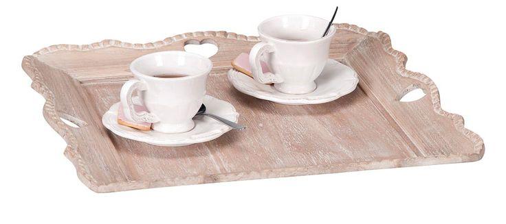 Dienblad hart: dienblad in romantische stijl voor op je tafel, hocker of kast. #interieurtip #woondecoratie