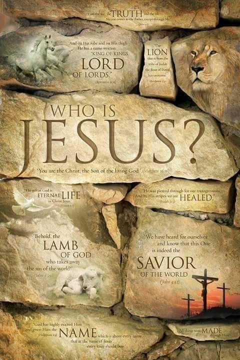 The name of Jesus is written in stone~