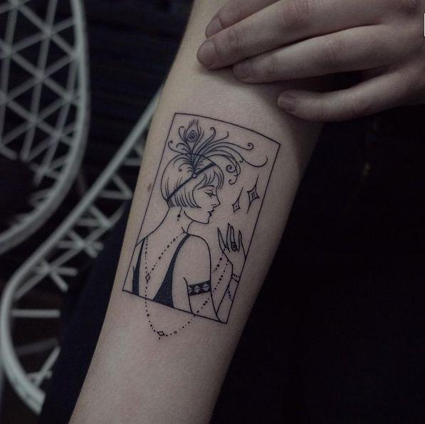 Flapper girl design by Elisabeth Markov