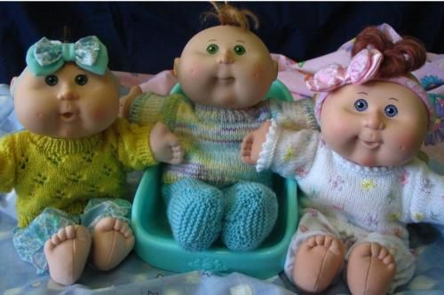 Jumper / Sweater KNITTING PATTERNS for 11&14 inch Cabbage Patch Kids Babies