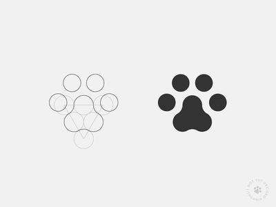 geometric shape of the paw - could be cool and clean