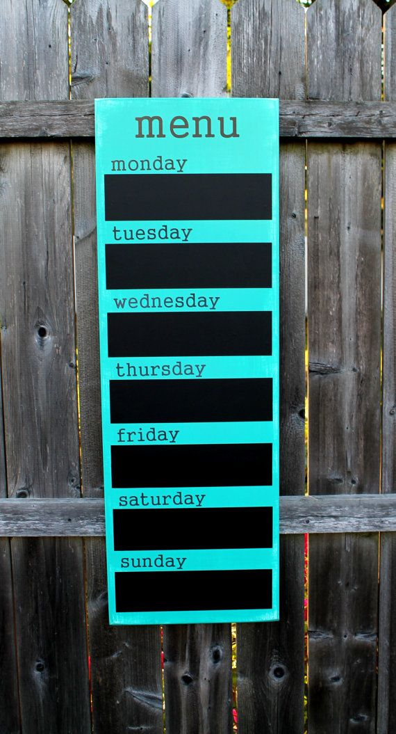 Menu Board Chalkboard 12 x 36 Made To by JolieMaeCollections