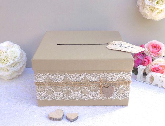 Hochzeitsdeko - Hochzeitspost Box Briefbox Vintage Hochzeit - ein Designerstück…