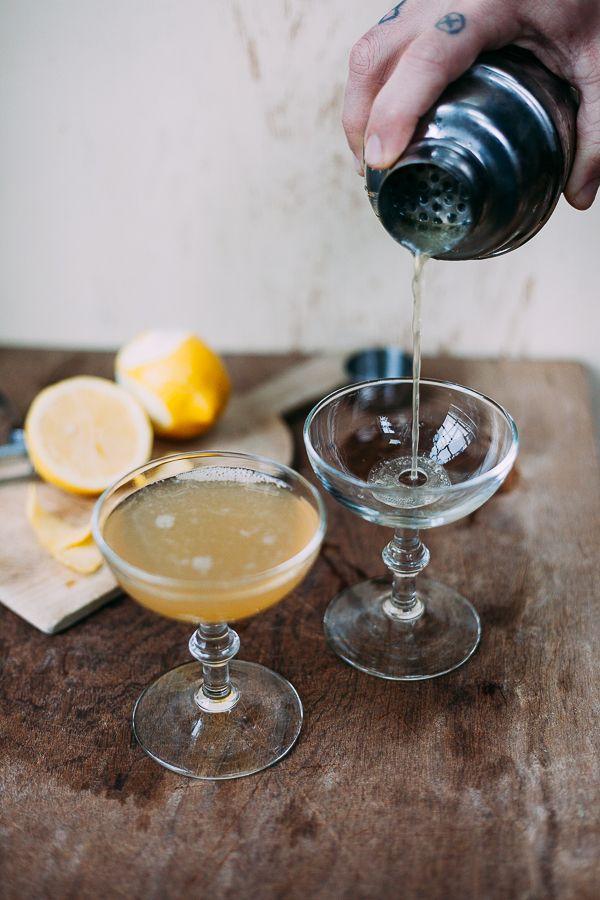 Bourbon Sidecar -  Bourbon, Cointreau, Lemon Juice, Lemon Zest.