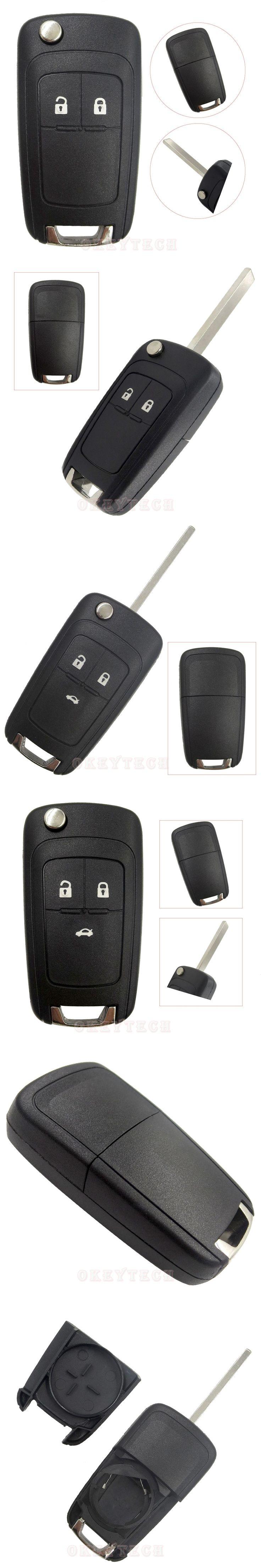 Folding Flip Key Shell Case For Chevrolet Cruze spark aveo captiva Remote car Key Switchblade key Cover Fob 3 Button HU100 Blade