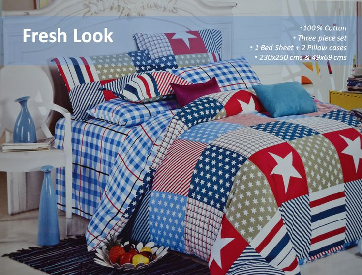 100% Cotton  Countrywide Bedsheet  Let your contemporary style home decor find a worthy addition with this multicoloured bed set.