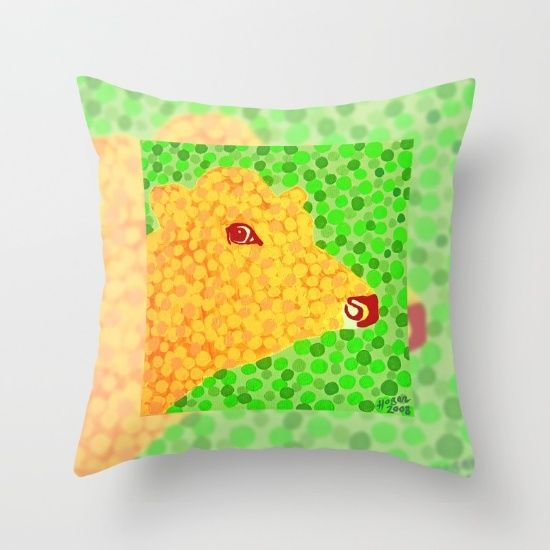 The Orange Cow - Throw Pillow. #society6 #s6pillows #orange #green #cow #animal #milk #eye #cows #dairy #cream #dots #moo #pillows #cushions #homedecor #houseandhome #interiors #furnishings #latest #arrivals