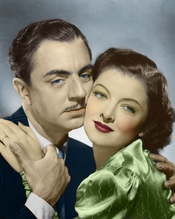 """William Powell & Myrna Loy - """"Dessert is probably the most important stage of the meal, since it will be the last thing your guests remember before they pass out all over the table.""""    -William Powell"""