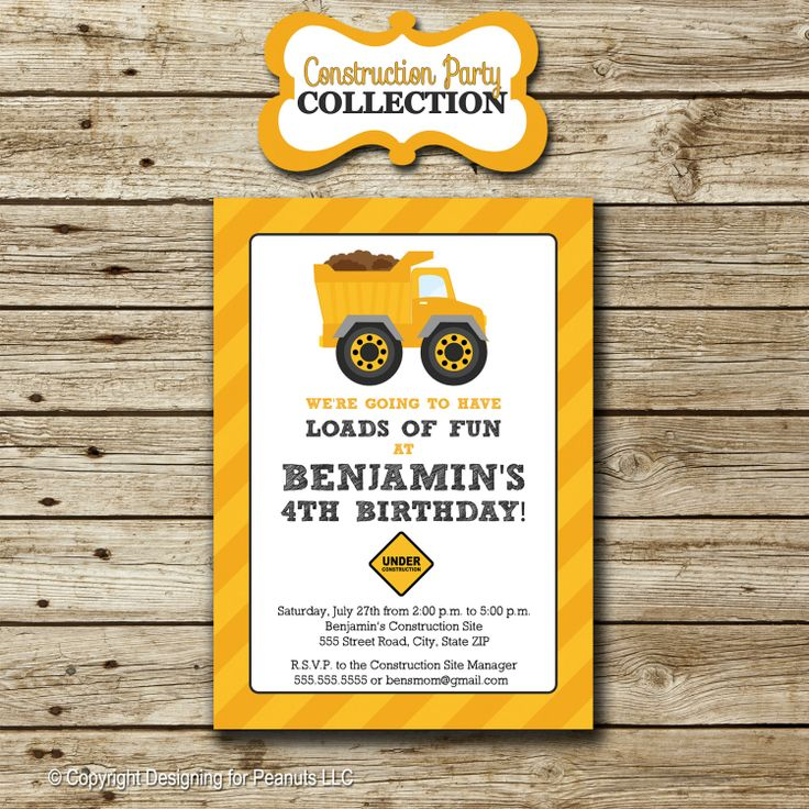 100 best images about Caterpillar themed birthday party – Dump Truck Party Invitations