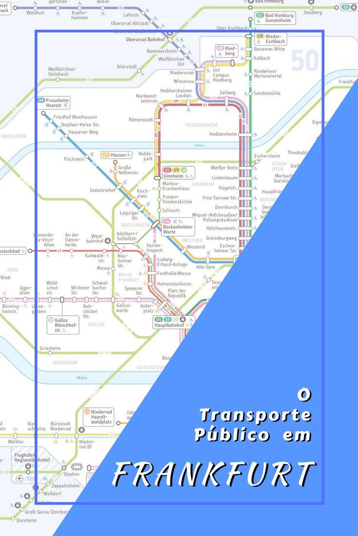 Transporte Público em Frankfurt, Alemanha