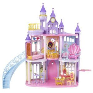 The Disney Princess Total Fairy Tale Castle Is one of the biggest and best dollhouses available. It's definitely the best Disney castle toy out...
