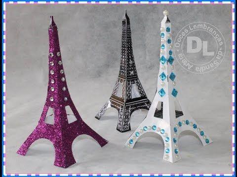 DOCES LEMBRANÇAS DA SANDRA ARTERA: DIY: Faça sua própria Torre Eiffel   Torre Eiffel