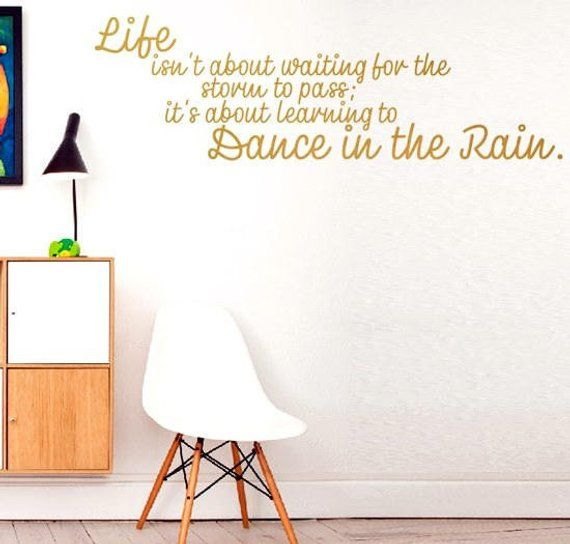 LIFE ISN/'T ABOUT WAITING Inspirational Decal Wall Decor Quote Vinyl Sticker Art