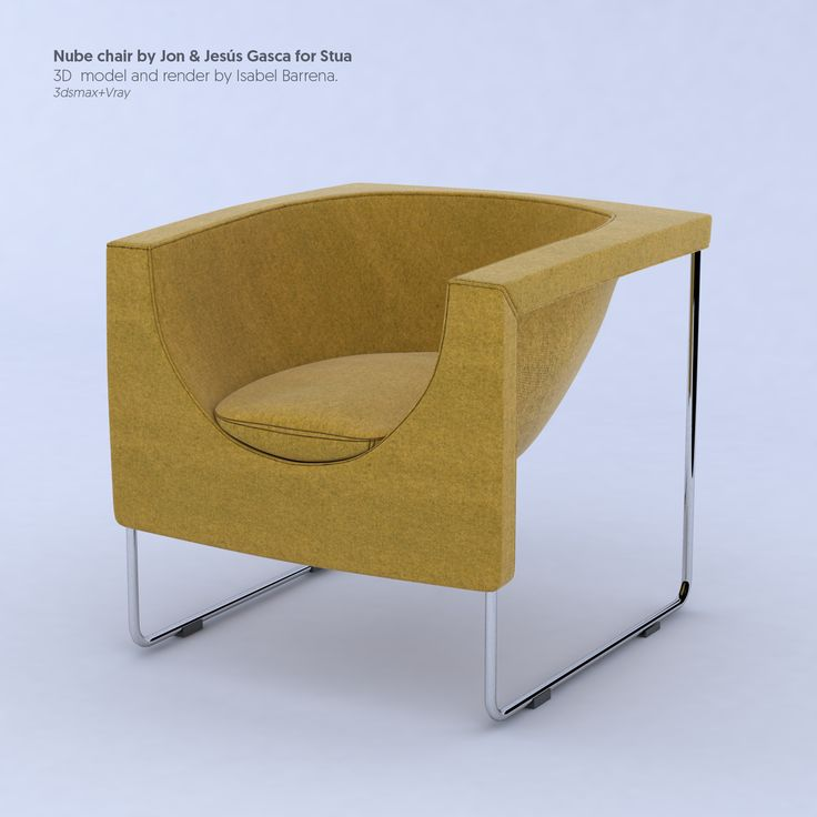 Nube chair by Jon and Jesús Gasca for Stua. Model+Render by Isabel Barrena. #vray #3dsmax #render