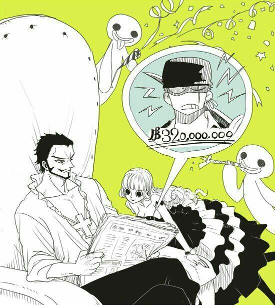 One Piece - Perona x Mihawk & Zoro