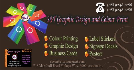 S&T offer prime quality custom business cards printing & design services further as different business writing paper merchandise. Show our business cards are distinctive and business related graphic style with printing in Perth.