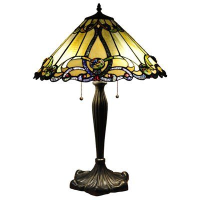 Chloe Lighting CH1B518AV18-TL2 Victorian Gold Table Lamp This product by Chloe Lighting works with two 60-watt frosted incandescent bulbs.  Gold Victorian