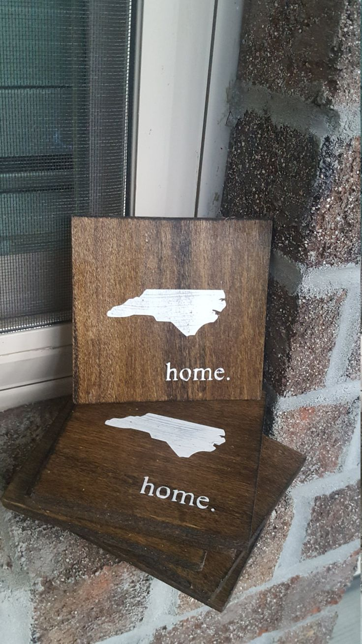 Coasters, home, state coaster, pallet coaster, personalized coaster, custom coaster,drink coaster, state sign, state map, map coaster, by Ajminteriors on Etsy