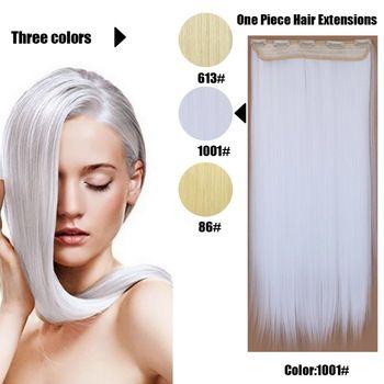 61 Centímetros 120 Gramas 1 peça Mega Hair Tic Tac Cabelo Sintético Liso Loiros Claríssimos //Price: $95.89 & FREE Shipping