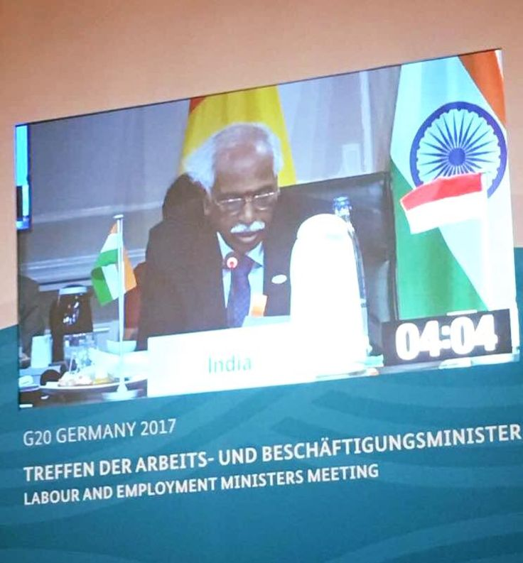 Addressing at #G20Labour and Employment Ministers' Meet on 'Boosting Youth Employment' in Bad Neuenahr, Germany. Ministry of Information & Broadcasting, Government of India Press Information Bureau - PIB, Government of India PTI